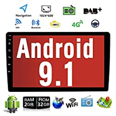 The Latest Androird 9.1 operation system, Quad Core,DDR3 2GB RAM and 16GB/32GB flash memory, ensure smooth operation and faster response. High quality huge 10.1 inch capacitive touch screen with high resolution 1024*600,larger and clearer screen will...