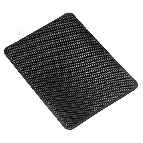 Eizur Tapis de Voiture Tapis antidérapant Noir pour Telephone Tapis de Tableau de Bord Dash Portable Car Tableau de Bord, 27×15CM, 1 Pièce