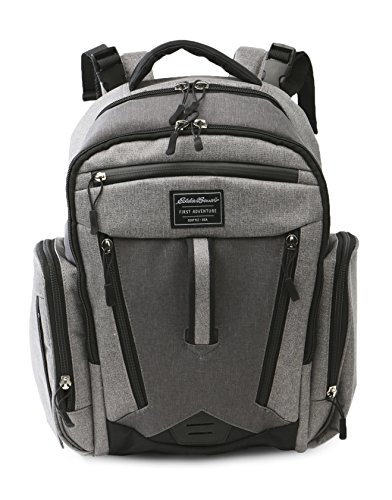 Eddie Bauer Traverse Back Pack Diaper Bag, Grey Heather