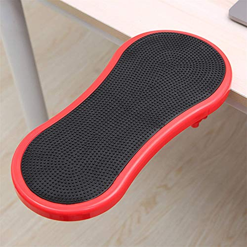 DYYDMM Ergonomic Arm Wrist Rest Support Sturdy Mouse Armrest Wrist Rest, Desk Extender for Desk and Chair, Computer/Laptop,Lightweight for Easy Typing, Red