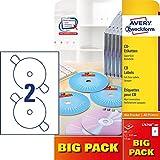 Avery Zweckform L7676 After Burner CD Etiketten Super Size Durchmesser