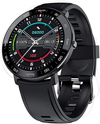 YQCH Smart Watch con presión Arterial Monitor de sueño Paso Calorie Contador Mensaje Call Recordatorio Rate Cardy Monitor Monitor Fitness Watch para iOS Android (Color : Black)
