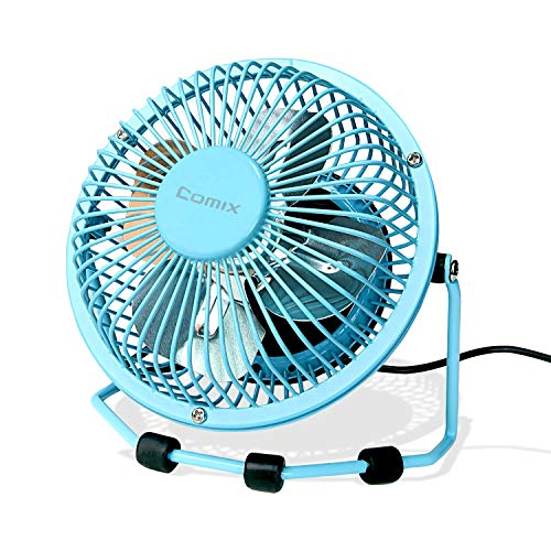Small Desk Fan 6 Inch Ultra-Quiet Design Desktop Mini Fan with 360 Rotation Portable USB Powered Cooling Fan for Home & Office