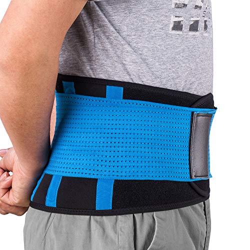 Rückenbandage Rückengurt Lindert Schmerzen - Acdyion Rückenstützgürtel, Geradehalter Rückenlehne für gute Körperhaltung, Haltungskorrektur, Verletzungen zu vorbeugen, Rückenmuskulatur Blau(M)