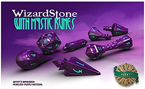 descuento de bajo precio Game Salute PolyHero Dice Dice Dice  Wizard Set - Wizardstone with Mystic Runes  envío rápido en todo el mundo
