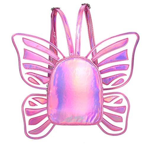 Mochila para niña/Mariposa, Mochila Escolar Holo holográfica, Purpurina para Adolescentes, Mujeres, niñas, Rosa (Rosa) - FA1129896_PK-568-1656227651