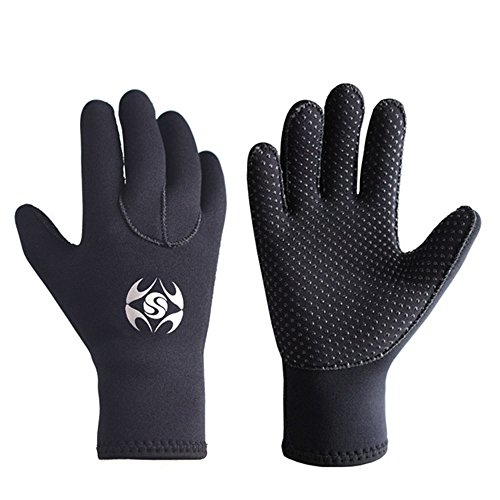 Diving Gloves Neoprene, Wetsuits Five Finger...
