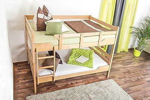 Etagenbett für Erwachsene Easy Premium Line  K16 n, Kopf- und Fu il gerade, Buche Vollholz massiv Natur - Liegefl e  120 x 190cm  , teilbar