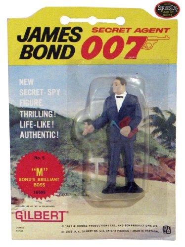 Secret Agent 007 James Bond Vintage Gilbert Movie Figure # 5 M : Bond's Brilliant Boss on Original 1965 Era Card