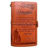 Diario de cuero para mi hija, 120 páginas, diario de viaje, cuaderno de dibujo, graduación, regalo de vuelta a la escuela para niñas (de papá a hija – Gran deseo)