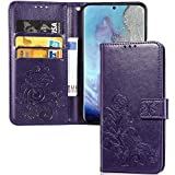 IMEIKONST LG K40S Wallet Case, Elegant Embossed Design Card