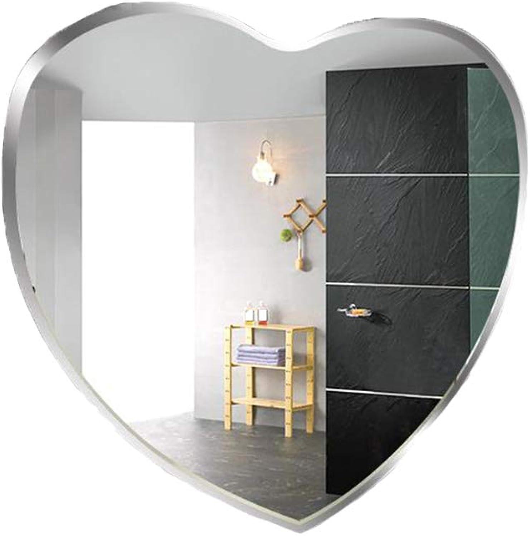 YJXJJD Bathroom Mirror Bathroom Mirror Heart-Shaped Makeup Mirror Wall Hanging Bathroom Mirror Wall Bathroom Toilet Decorative Mirror