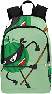 Slices of Red Girl Heart Watermelon Casual Daypack Travel Bag College School Backpack for Mens and Women