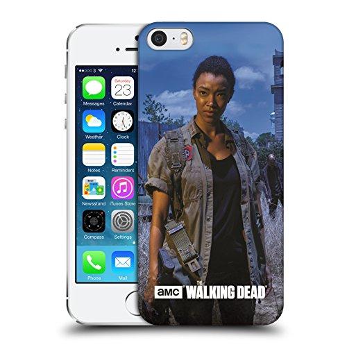 Oficial AMC The Walking Dead Sasha Personajes Filtradas Carcasa rígida Compatible con Apple iPhone 5 / iPhone 5s / iPhone SE 2016