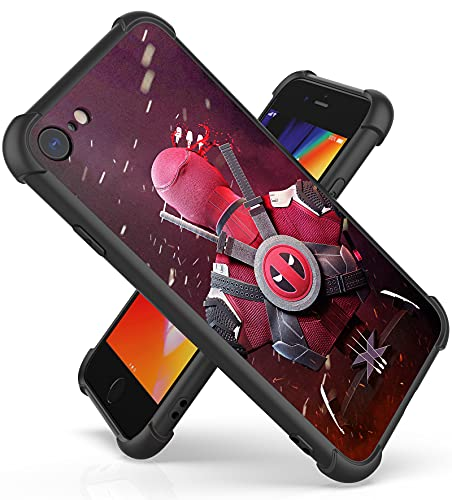 Fit for iPhone 7/8/SE 2020 Case (4.7') with 4 Corners Shockproof Protection Anime Design Customization Cases for Men and Women (03-Avengers-Deadpool)