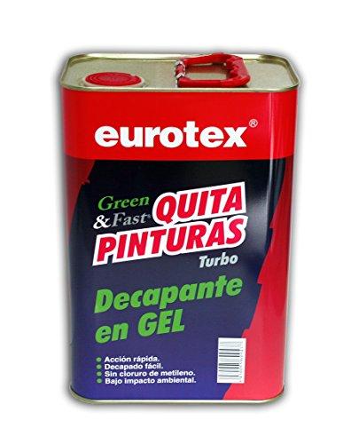 Decapante en gel ecologico fuerte Elimina fácilmente de 3 a 5 capas de pintura, barnices sintéticos y esmaltes - 4 litros -