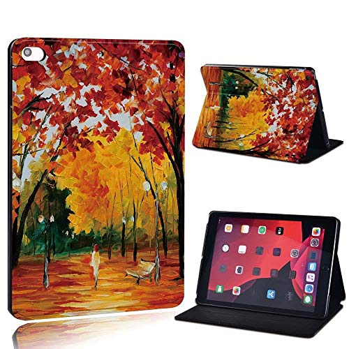 lingtai For Ipad 2 3 4 5 6 7/Air 1 2 3/Pro 11 2018 2020 Pu Leather Tablet Stand Folio Cover Ultrathin Painting Colors Slim Case (Color : Red f, Size : 8th Gen (2020))