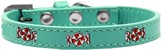 Mirage Pet Products 631-29 AQ14 Peppermint Widget Dog Collar, Size 14, Aqua