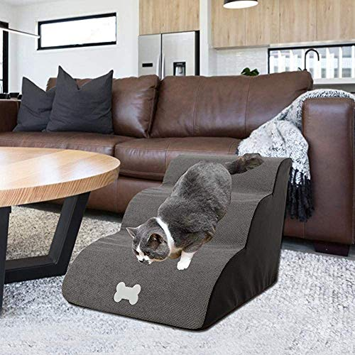 Bcaer Gangway ladder ladder pet dog pet dog gangway ladder stairs dog gangway ladder sofa bed for dogs and cats,Grey