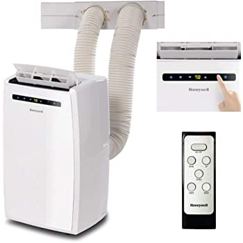 Honeywell MN14CEDWW 14,000 BTU Dual Hose Portable Air Conditioner with Dehumidifier, 14000, White