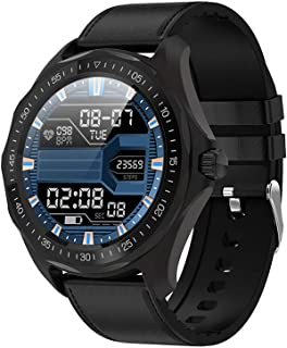 Rastreadores De Fitness, Pantalla táctil Redonda IP68 Impermeabile Reloj Inteligente Reloj Pulsómetro Presión Arterial Monitor De Sueño Podómetro Calorías Reloj Bluetooth