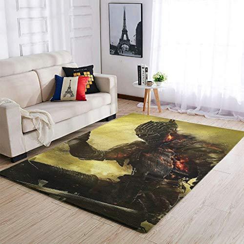 AXGM Alfombra de guerrero vikingo con impresión 3D para dormitorio, salón, dormitorio, pasillo, color blanco, 122 x 183 cm