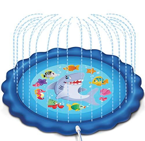 "JOYIN Sprinkler amp Splash Play Mat 68"" Outdoor Water Sprinkler Toys for Kids Toddlers Splash Pad"