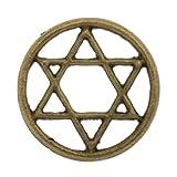 Pentagrama de la placa flotante - virutas de 22 millimeter bronce antiguo plateado de 10 piezas