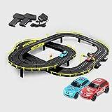 GAOO Rail Car Slot Car Racing Set 4.1M Track Racing Vehicle Playsets Pista De Empalme para Niños Y Niñas Regalos De Cumpleaños De Navidad(Color:Eléctrico,Size:4 Cars)
