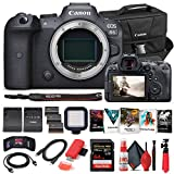 Canon EOS R6 Mirrorless Digital Camera (Body Only) (4082C002) + 64GB Memory Card + Case + Corel Software + 2 x LPE6 Battery + External Charger + Card Reader + LED Light + HDMI Cable + More (Renewed)