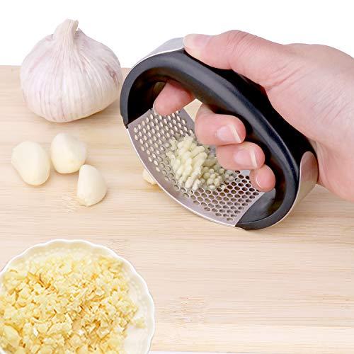Vantic Garlic Press Rocker - Stainless Steel Garlic Mincer Crusher and Peeler (2020) …