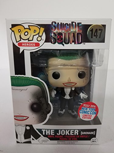 Funko 2016 NYCC Exclusive Pop! Heroes Suicide Squad Joker Grenade #147 Limited Edition
