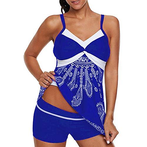 YHYZ Badeanzüge für Damen Bikinis Bikini-Sets Tankinis,Großformatiges gedrucktes Quadrat, M_Blue<br/>Geeignet für Strandpartyausflüge im Schwimmbad