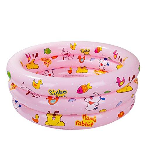 HCJCQYG FJXLZ® Baignoire Gonflable, Piscine Gonflable bébé Piscine Plastique Pliable Enfant Baignoire Isolation Plus épaisse Pliant Baignoire (Couleur : Rose)