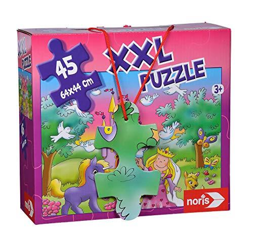 Noris 606034961 XXL Riesenpuzzle Prinzessin mit 45 Teilen (Gesamtgröße: 64 x 44 cm) - für Kinder ab 3 Jahren