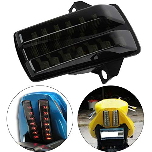 MZS Tail Light Turn Signal LED Integrated Blinker Compatible with Suzuki SV650 2003-2008 | SV1000 2003-2007 Smoke