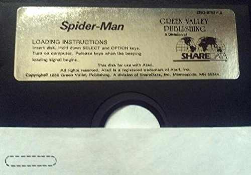 Spider Man Atari 400/800/xl/xe Floppy Disk