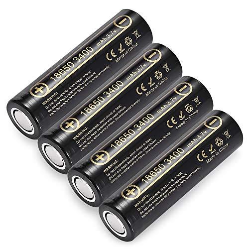 Liitokala Lii-34A 3.7V 18650 Batteria 3400Mah per Torce NCR18650B 34B Batteria Ricaricabile Pile Torce Lampada (4 Pezzi)