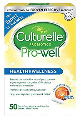 Culturelle Pro-Well Daily Probiotic Supplement - Immune Support - With the proven effective Probiotic - 15 Billion CFU - 50 Vegetarian Capsules