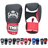 KINGTOP Top King Gloves Air TKBGAV Color White/Black/Red Size 8, 10, 12, 14, 16 oz for Training and Sparring Muay Thai, Boxing, Kickboxing, MMA (Air - White/Black/Red,8 oz)