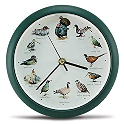 Mark Feldstein Singing Wild Game Birds of North America Hunting Wall/Desk Sound Clock, 8 Inch