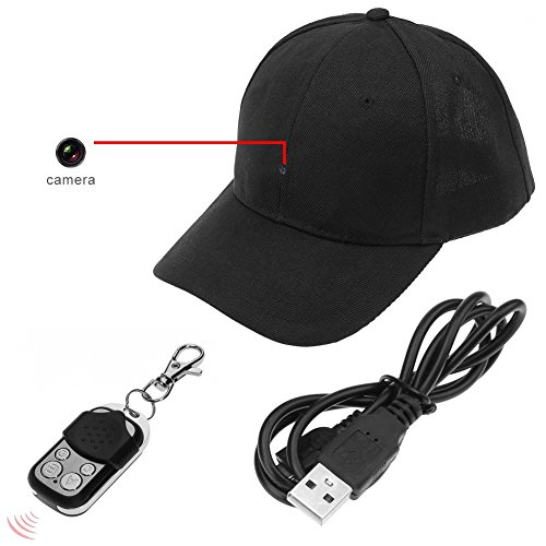 YOUYE Gorra de Control inalámbrico HD 1080P Spy Hidden Camera Hat Grabadora de Video inalámbrica
