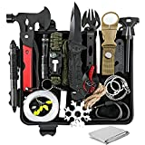 Gifts for Men Dad Husband, Survival Gear and Equipment 20 in 1, Emergency Escape Tool with Axe, Cool Gadget Birthday Ideas Christmas Stocking Stuffers for Outdoor Camping Hunting Hiking Fishing