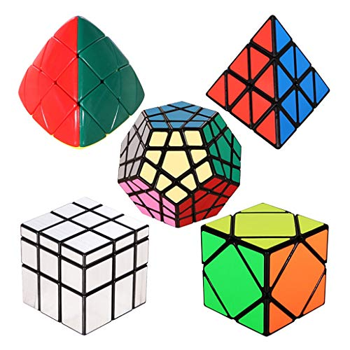 HXGL-Cubos Mágicos 3D Magic Cube Cubo De La Velocidad Conjunto Pirámide Espejo Megaminx Pyramorphix Inclinación Cubo Set Juego De Puzzle Rompecabezas Educativos Juguetes For Niños De Navidad Regalo De