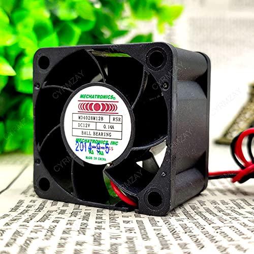 CYRMZAY Ventilador Compatible para MECHATRONICS MD4028M12B 12V 0.14A 2-Wire 4CM 4028 Cooling Ventilador