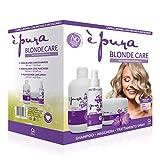 È Pura - Kit Professionale Blonde Care - Trattamento Antigiallo per Capelli Biondi e con Meches - Contiene Shampoo, Maschera e Spray Senza Risciacquo Antigiallo per Capelli Decolorati