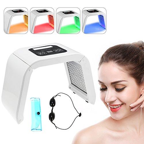 PDT 4 Colores Luz LED Fotodinámica Facial Cuidado de la Piel Rejuvenecimiento Máquina de Terapia de Fotones