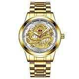 Abracing Herren-Armbanduhr, Edelstahl, wasserdicht, für Vatertag weiß