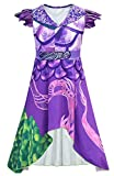 Riekinc Dragon Mal Dress Girls Popular Musical Costume Kids 140 Purple