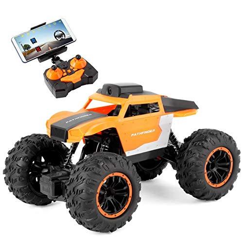 El juguete favorito del bebé, gran regalo para los Control remoto inalámbrico Coche 2.4 g 1/18 Control remoto WiFi 720p Cámara Tiempo en tiempo real de la cámara del vehículo del vehículo del vehículo